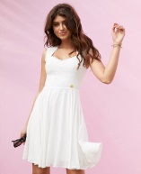 Graduation dresses in white