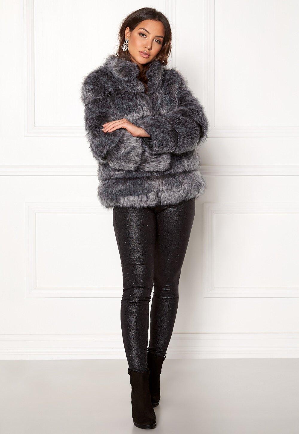 Amo Couture Phantom Faux Fur Short Coat Silver Fox