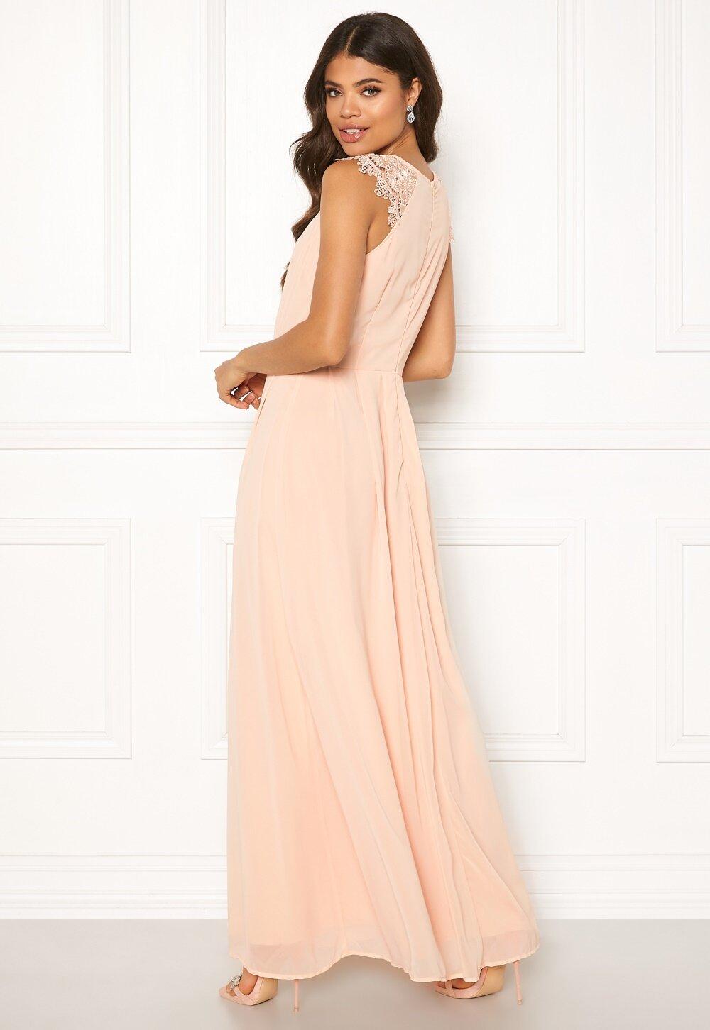 Chiffon Pleat Front Plain Maxi Dress - AX Paris