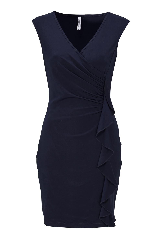 fdcacb55 Chiara Forthi Celina ruffle dress Midnight blue - Bubbleroom