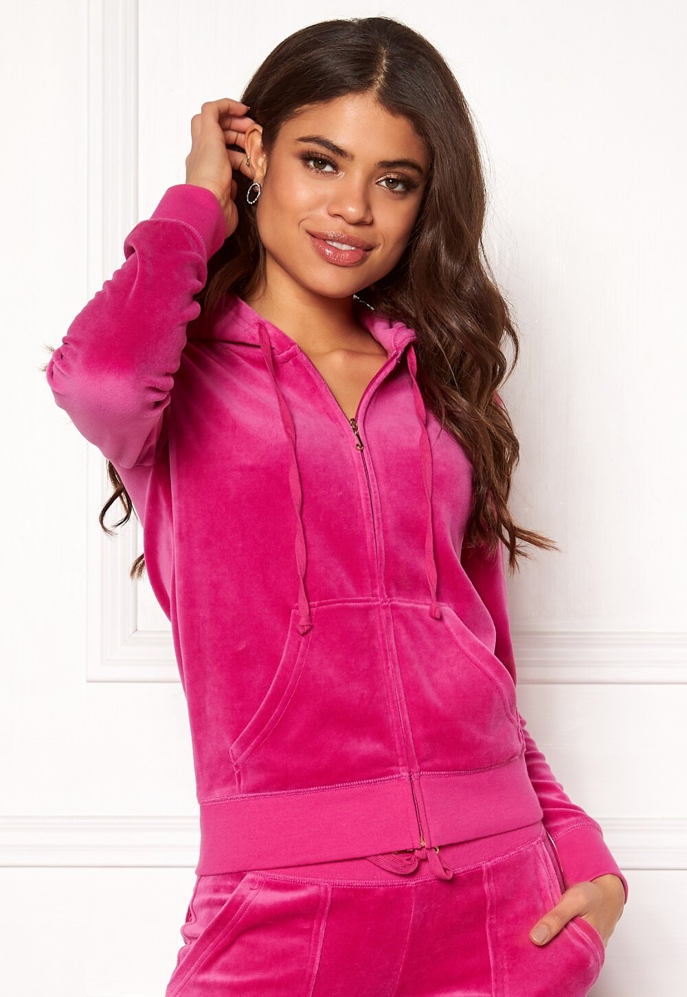 7f1f320eac92 Juicy Couture Velour Robertson Jacket Raspberry Pink - Bubbleroom