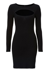 BUBBLEROOM Kampala rib Dress Black