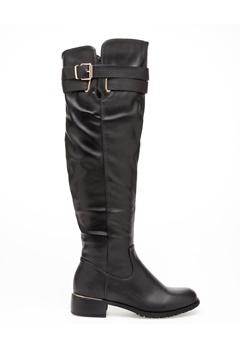 Glossy Over the knee boots, Kirsti 0 cm Bubbleroom.eu