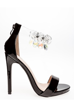 Glossy Heeled Sandals, Candy 0 cm Bubbleroom.eu