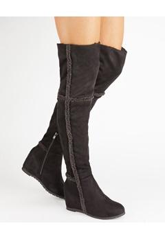 Have2have Over the knee boots, Husky Black Bubbleroom.eu