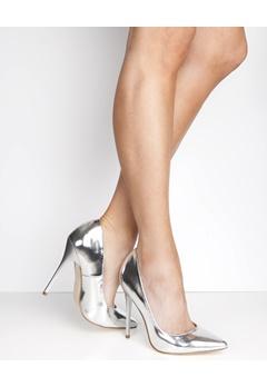 Have2have Slim heel court shoes, Koko Silver Bubbleroom.eu