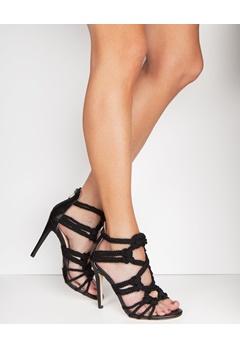 Have2have Heeled Sandals, Simona Black Bubbleroom.eu