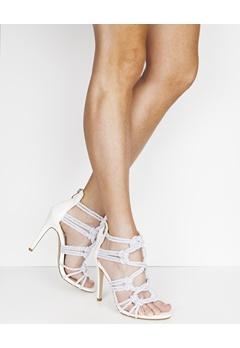 Have2have Heeled Sandals, Simona White, grey Bubbleroom.eu