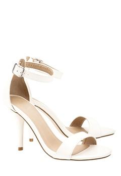 Have2have High heeled sandals, Tulip1 White Bubbleroom.eu
