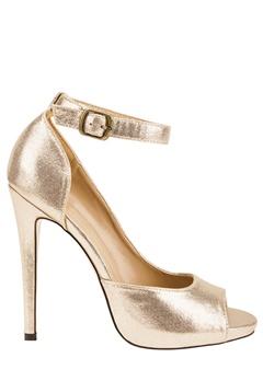 Have2have High heeled shoes, Rita19 Gold Bubbleroom.eu