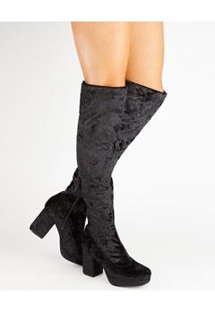 Truffle Knee high boots, Beskie Black Bubbleroom.eu