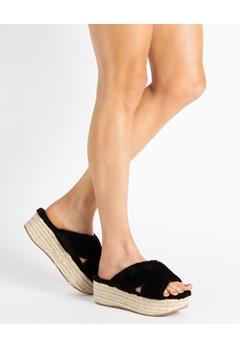 Truffle Platform sandals, Juno Black Bubbleroom.eu