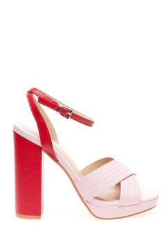 Truffle Sandals, Josefa Pink, red Bubbleroom.eu