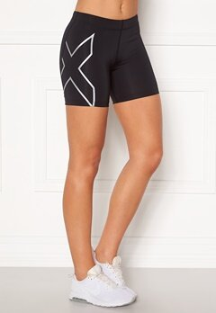 2XU Compression 5 inch Shorts BLK/SIL Bubbleroom.eu
