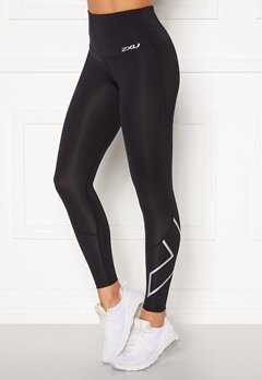 2XU Hi-Rise Compression Tight BLK/SXL Black/Silver Bubbleroom.eu