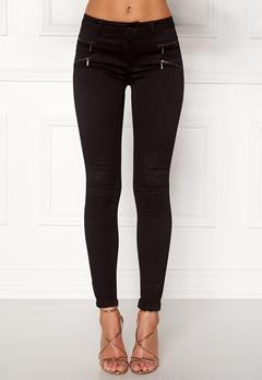 ONLY Royal Skinny Zip Jeans Black Bubbleroom.eu