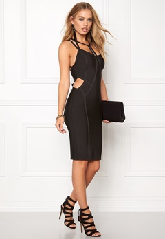 WOW COUTURE Strappy Bandage Shaping Black Bubbleroom.eu