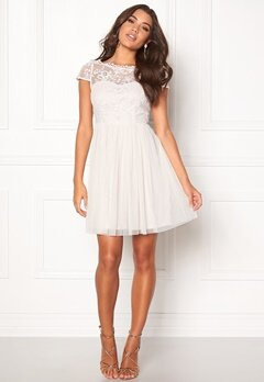 VILA Ulricana Short Dress Snow White Bubbleroom.eu