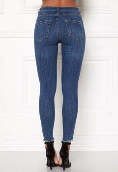 Pieces Five Delly Cropped Jeans Medium Blue Denim Bubbleroom.eu