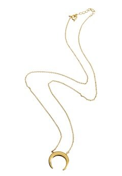 NORR by Erbs New Moon Necklace Gold Bubbleroom.eu