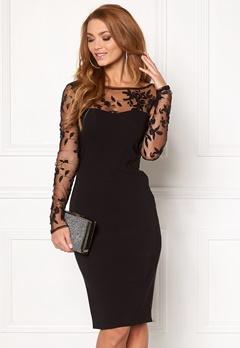 Goddiva Mesh Midi Dress Black Bubbleroom.eu