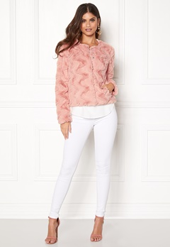VERO MODA Curl Short Fake Fur Jacket Rose Cloud Bubbleroom.eu