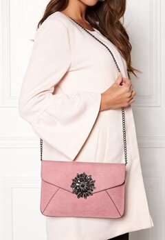 New Look Brooch Envelope Clutch Shell Pink Bubbleroom.eu