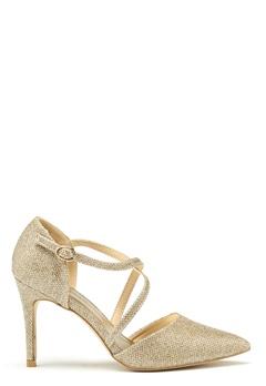 New Look Shimmer Cross Strap Heel Gold Bubbleroom.eu