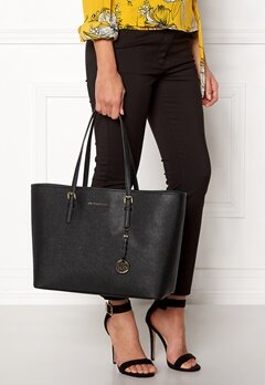 Michael Michael Kors Jet Set Travel Mid Tote Black Bubbleroom.eu