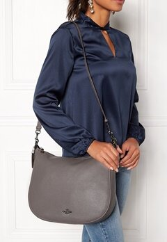 COACH Chelsey Leather Bag DKHGR Heather Grey Bubbleroom.eu