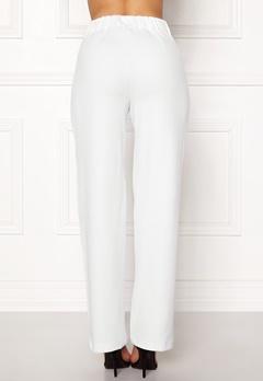 Pieces Vicca HW Vide Pants Bright White Bubbleroom.eu