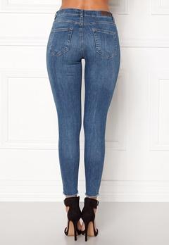Pieces Five Delly B185 MW Jeans Medium Blue Denim Bubbleroom.eu