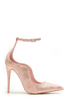 LOST INK Palm Curved Ankle Strap Rose Gold Bubbleroom.eu