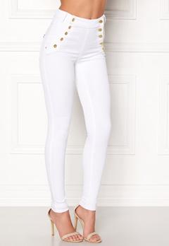 77thFLEA Adina highwaist jeans White Bubbleroom.eu