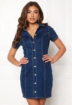 77thFLEA Belinda denim dress Blue denim Bubbleroom.eu