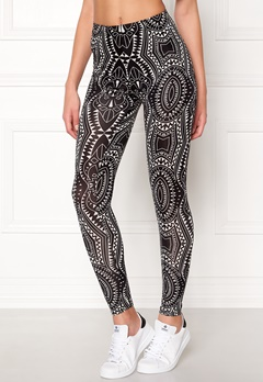 77thFLEA Caleido printed leggings Black / White / Patterned Bubbleroom.eu