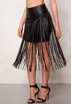 77thFLEA Frankie fringe skirt Black Bubbleroom.eu