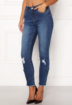 77thFLEA Laurel HW zip jeans Medium blue Bubbleroom.eu