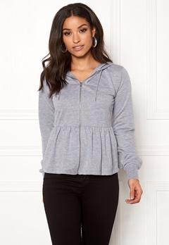 77thFLEA Lucy peplum sweater Grey melange Bubbleroom.eu