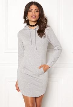 77thFLEA Rhianna Sweat Dress Grey melange Bubbleroom.eu