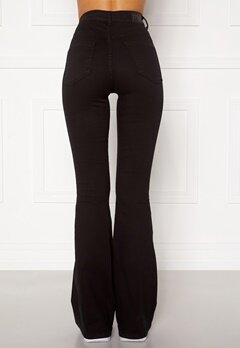 77thFLEA Tove high waist flared superstretch Black Bubbleroom.eu