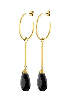 Dyrberg/Kern Akua Earrings Black Bubbleroom.eu