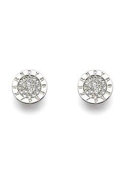 Dyrberg/Kern Alecia Crystal Earrings Shiny Silver Bubbleroom.eu