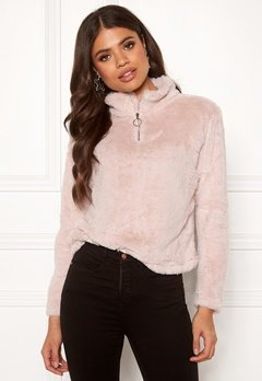 Rut & Circle Alex Fur Sweater Ice Pink Bubbleroom.eu