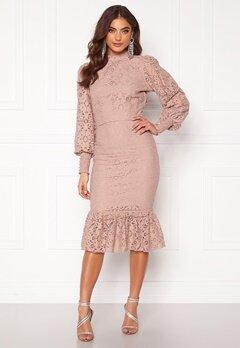 Alexandra Nilsson X Bubbleroom Lace flounce skirt Dusty lilac Bubbleroom.eu