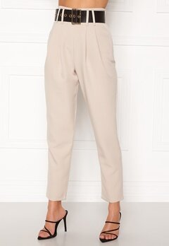 Alexandra Nilsson X Bubbleroom Super highwaisted suit trousers Beige Bubbleroom.eu