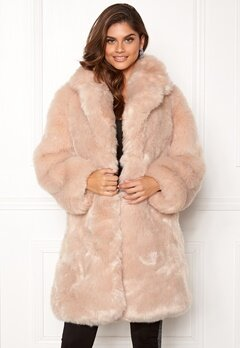 AMO Couture Imperial Faux Fur Long Coat Softy Beige Bubbleroom.eu