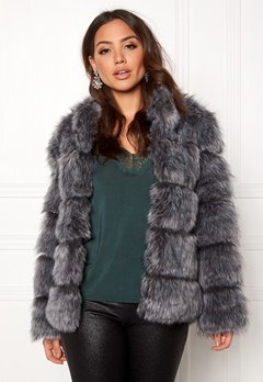 AMO Couture Phantom Faux Fur Short Coat Silver Fox Bubbleroom.eu