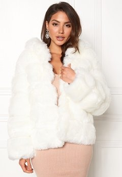 AMO Couture Roma Faux Fur Short Coat Pure White Bubbleroom.eu