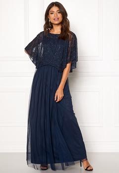 AngelEye Angel Sleeve Maxi Dress Navy Bubbleroom.eu
